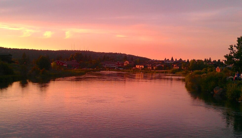 Sunset on the Deschutes River-Bend OR