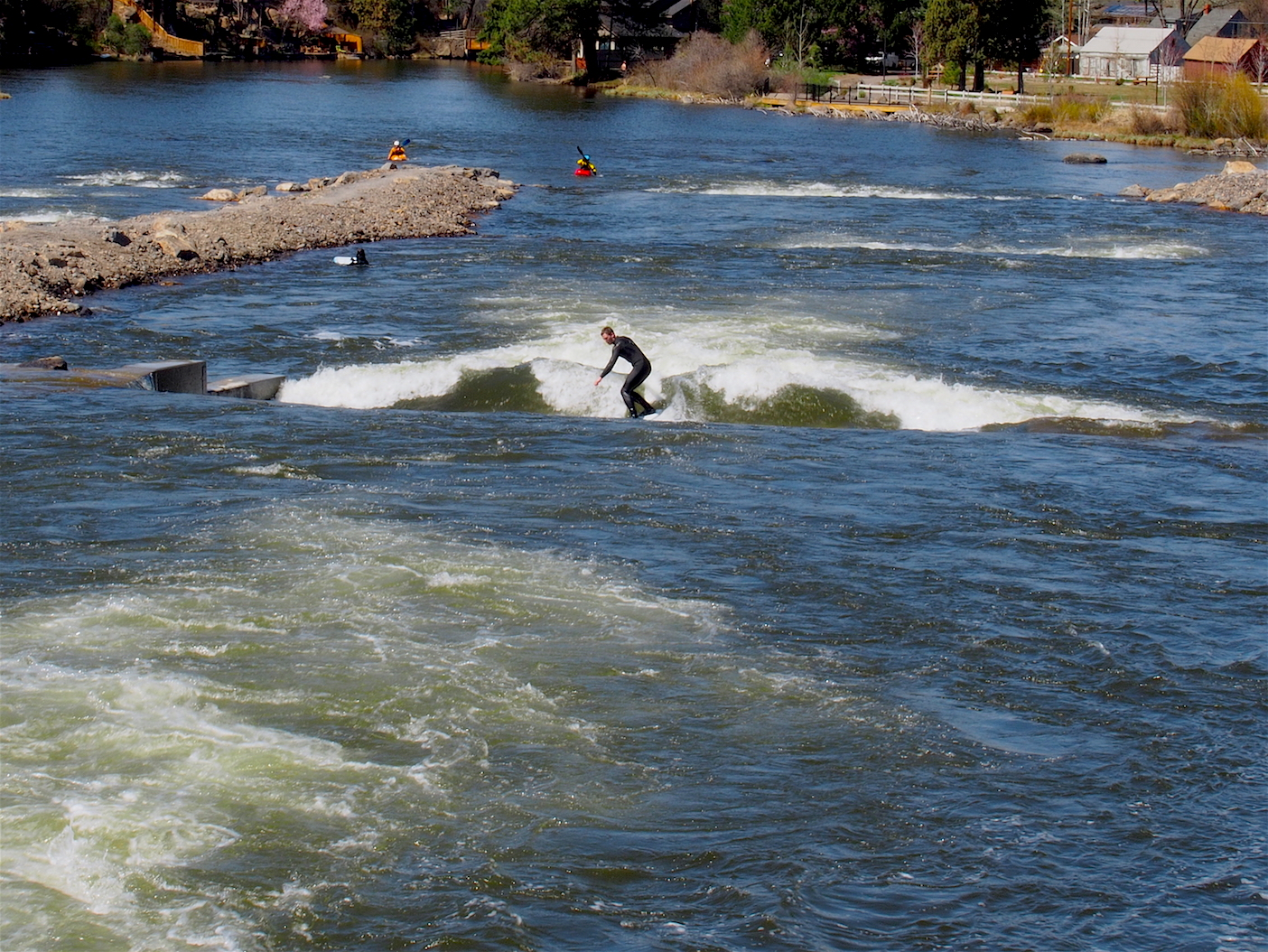 Surfer at Bend Whitewater Park